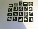 20 x stencil of your choice from the drop down menu - pig, mum word, ninja, ostrich, peace, penguin & baby etc
